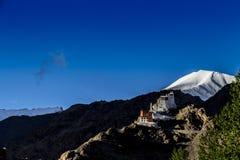 佛教徒修道院在Leh 图库摄影