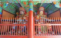 佛教徒四了不起的天堂般的国王Statue 库存图片