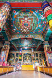 佛教徒里面寺庙 库存照片