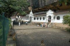 佛教徒`洞寺庙在斯里兰卡的Dambulla 库存照片