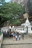 佛教徒`洞寺庙在斯里兰卡的Dambulla 免版税图库摄影
