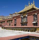 佛教徒ganden修道院西藏 免版税库存照片