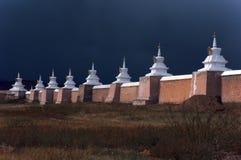 佛教徒karakorum风暴stupas 图库摄影