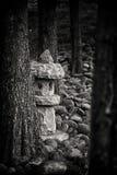 佛教微型石塔 免版税库存照片