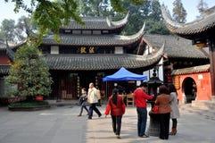 佛教成都瓷寺庙wenshu 库存照片