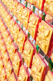 佛教教会墙壁传统泰国样式  免版税库存照片