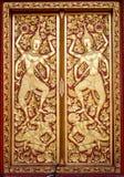 佛教教会的美丽的门 免版税库存图片