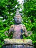 佛教日本雕象 库存照片