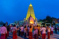 佛教星期一人民庆祝月优点节日 图库摄影