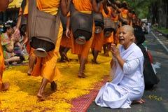佛教朝圣 免版税图库摄影