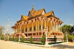 佛教柬埔寨寺庙 库存照片