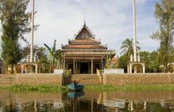 佛教柬埔寨部落phluk寺庙 免版税库存图片