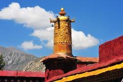 佛教横幅垂悬 库存图片