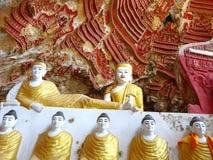 佛教洞在Hpa-an缅甸 免版税库存图片