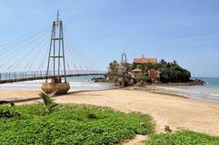 佛教海岛寺庙在马塔勒,斯里兰卡 库存图片