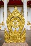 佛教的金子Thammachak标志 库存照片