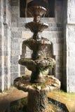 佛教石喷泉 库存照片