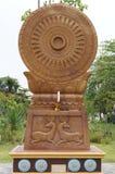 佛教石马刺前端的小齿轮 免版税库存照片