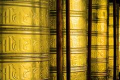 佛教祷告寺庙轮子 免版税库存照片