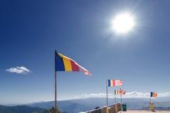 佛教祷告旗子在锡金 免版税库存图片