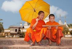 佛教老挝修士 免版税库存图片