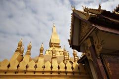 佛教老挝寺庙万象 免版税库存图片