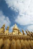 佛教老挝寺庙万象 免版税库存照片