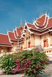 佛教老挝寺庙 免版税库存图片