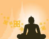 佛教背景 免版税库存照片