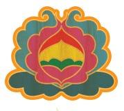 佛教莲花形状装饰品 库存图片