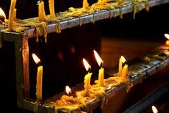 佛教蜡烛 免版税图库摄影