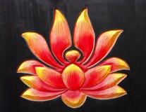 佛教设计莲花 库存照片