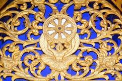 佛教轮子装饰 免版税库存照片