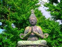 佛教雕象东京 库存图片