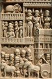 佛教雕象石头 免版税库存照片