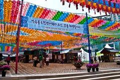 佛教韩文寺庙 图库摄影