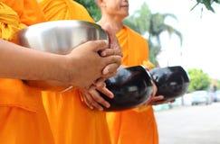 佛教食物产生修士课程 库存照片