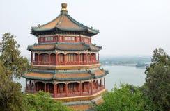 佛教香火塔在北京,中国颐和园  库存照片