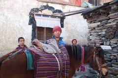 佛教马修士三个年轻人 免版税图库摄影