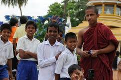 佛教主日学的学生 免版税库存照片
