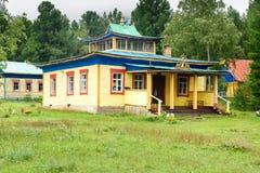 佛教datsan Bodhidharma在Arshan 俄国 免版税库存图片