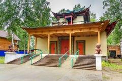 佛教datsan Dechen Ravzhalin在Arshan 俄国 免版税库存图片