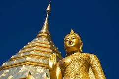 佛教doi phrathat suthep寺庙wat 免版税图库摄影
