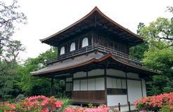 佛教ginkakuji寺庙 免版税库存照片