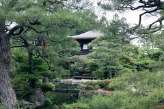 佛教ginkakuji寺庙 免版税库存图片