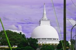 佛教lanka sri寺庙 免版税库存照片