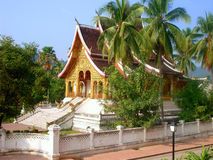 佛教luang宫殿prabang皇家寺庙 库存照片