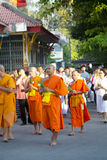 佛教Magha Puja天 图库摄影