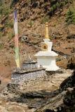 佛教stupa在珠穆琅玛地区,尼泊尔 免版税库存图片