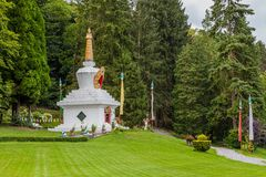 佛教Stupa在Huy,比利时 免版税库存照片